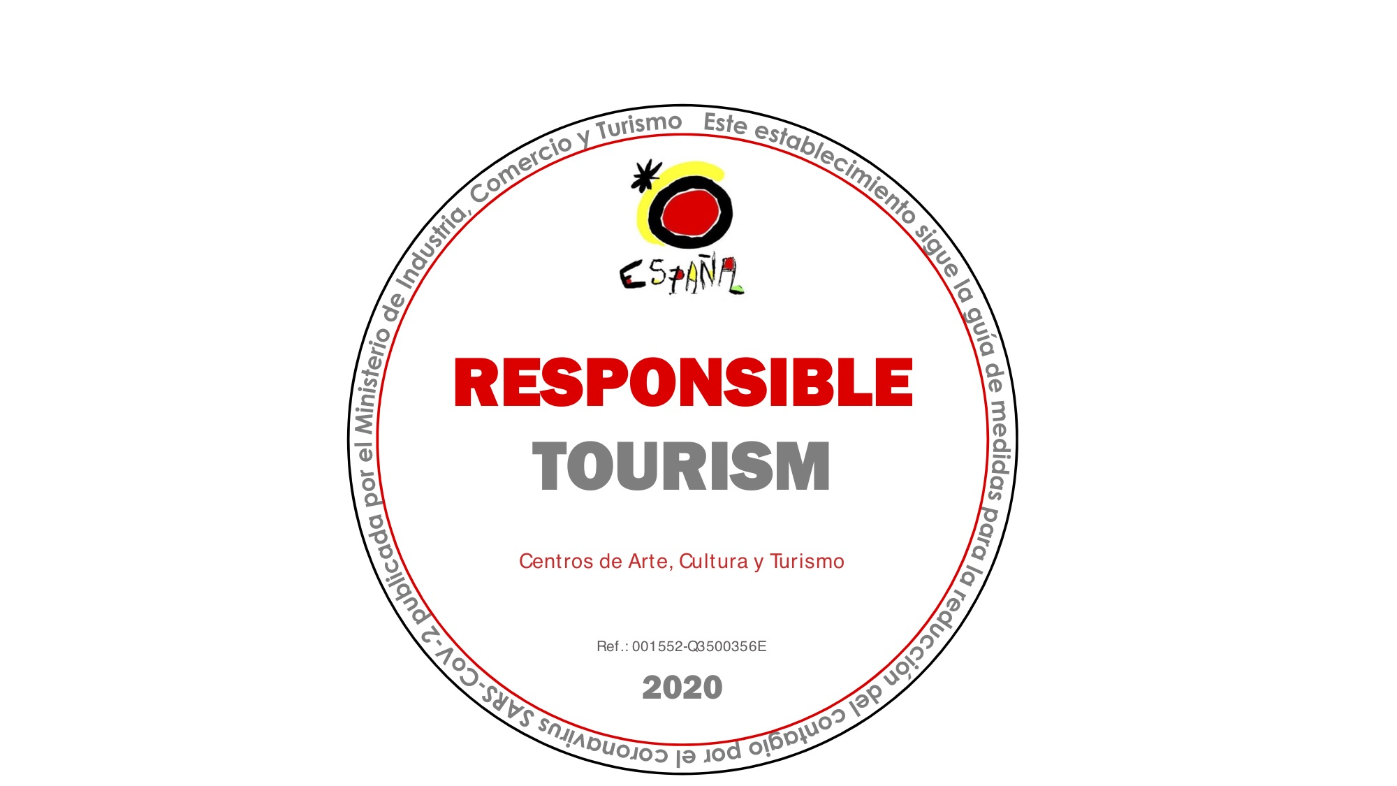 Certificado Turismo Seguro Responsible Tourism