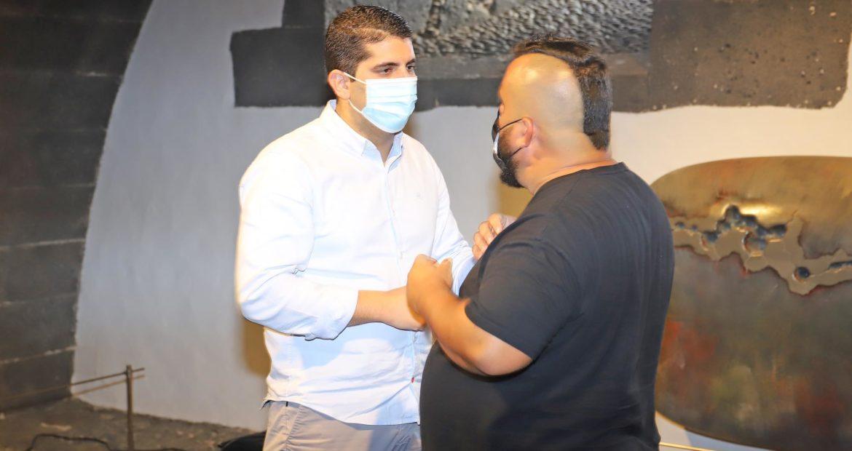 Kike Perez con Benjamín Perdomo